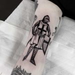 Templar knight tattoo by Miedoalvacio