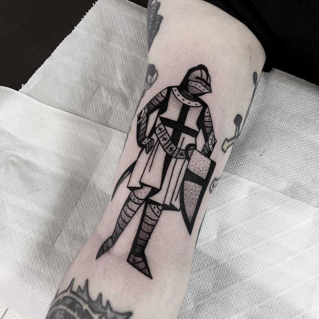 Templar knight tattoo by Miedoalvacio