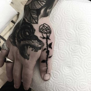 Thumb rose by Deborah Pow