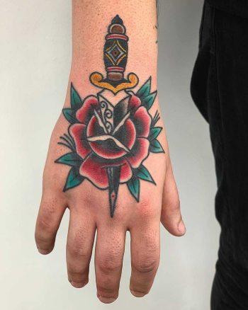 Traditional tattoo by Łukasz Krupiński