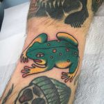 Traditional toad tattoo