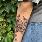 Triple floral tattoo