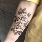 Two black roses tattoo