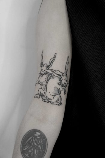 Two rabbits by Andrei Svetov