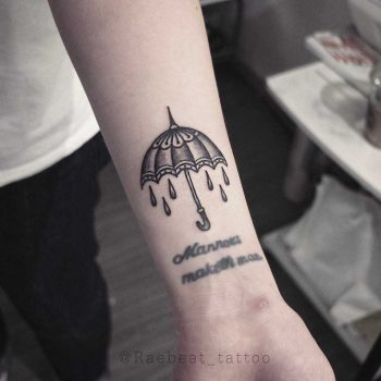 Umbrella tattoo by Rae Beat