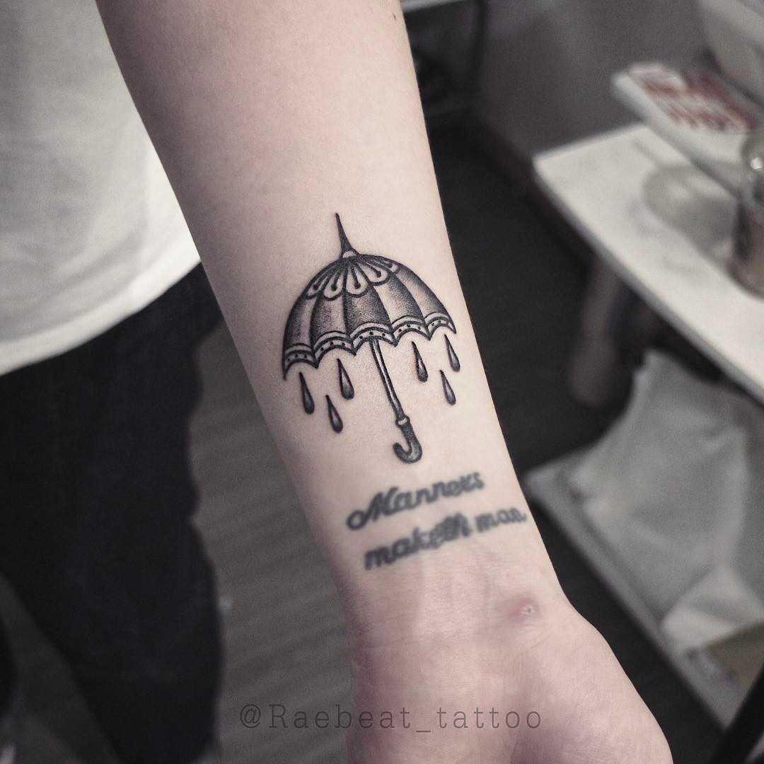 Umbrella tattoo by Rae Beat
