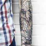 Underwater half-sleeve tattoo