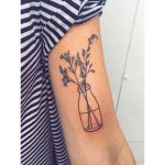 Vase with flowers by Tattooist Zaya