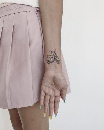 Vespa tattoo by Sasha But.maybe