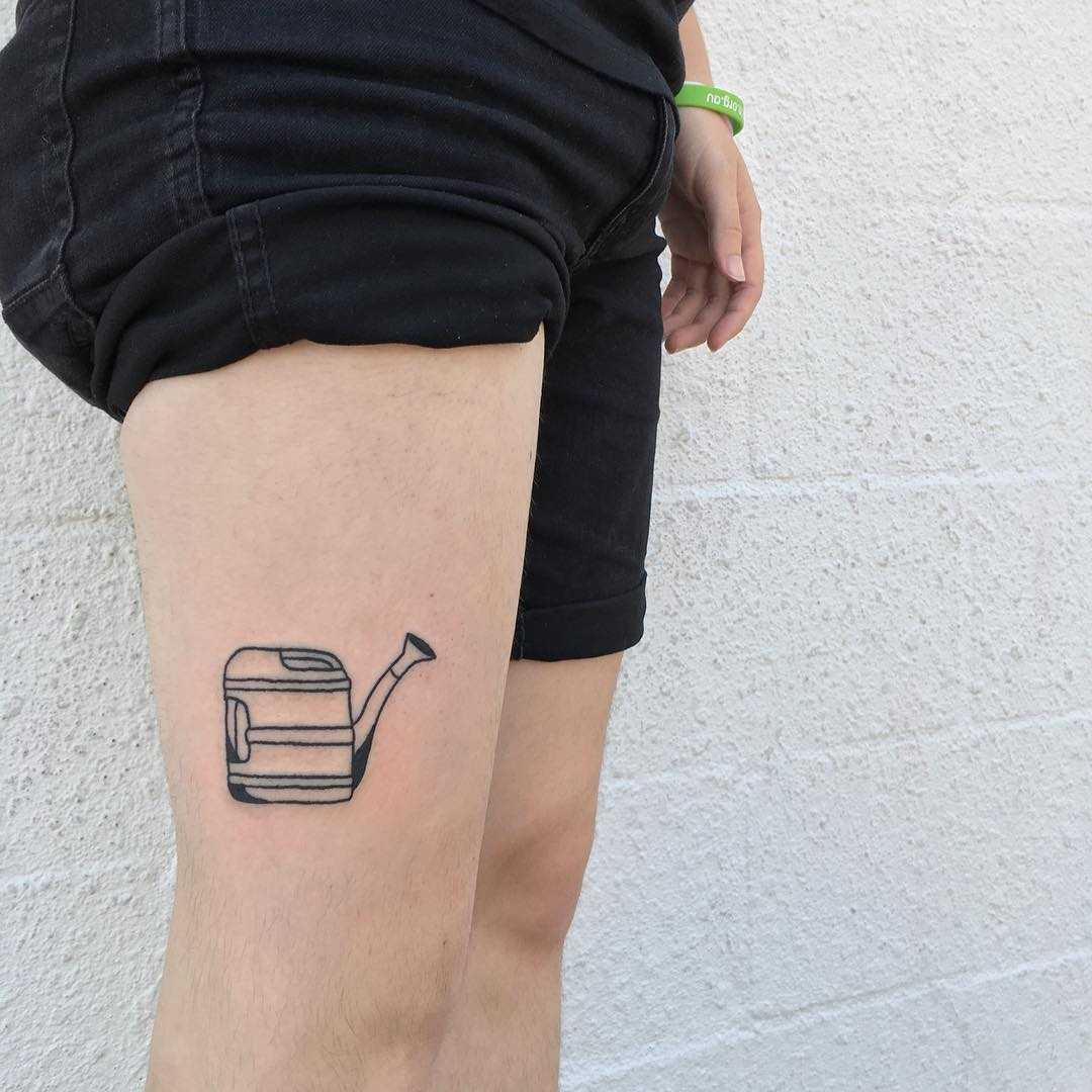 Watering can tattoo by yeahdope