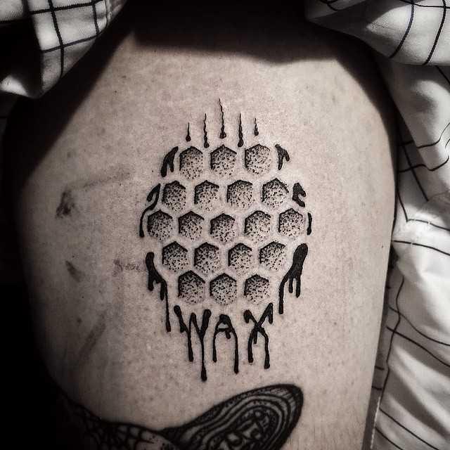 Wax tattoo