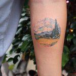 Wheat Field with Cypresses tattoo by Eva Krbdk