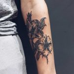 Wild roses tattoo by Finley Jordan