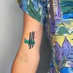 Abstract landscape tattoo by Agata Agataris