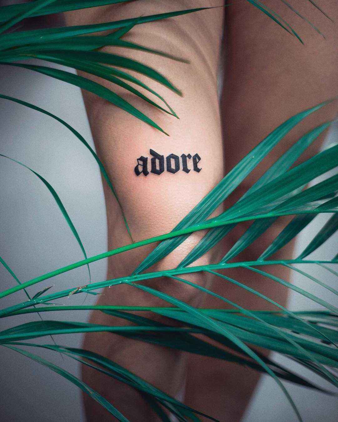 Adore tattoo by Dżudi Bazgrole