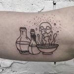 Alchemy stuff tattoo by Kevin Jenkins
