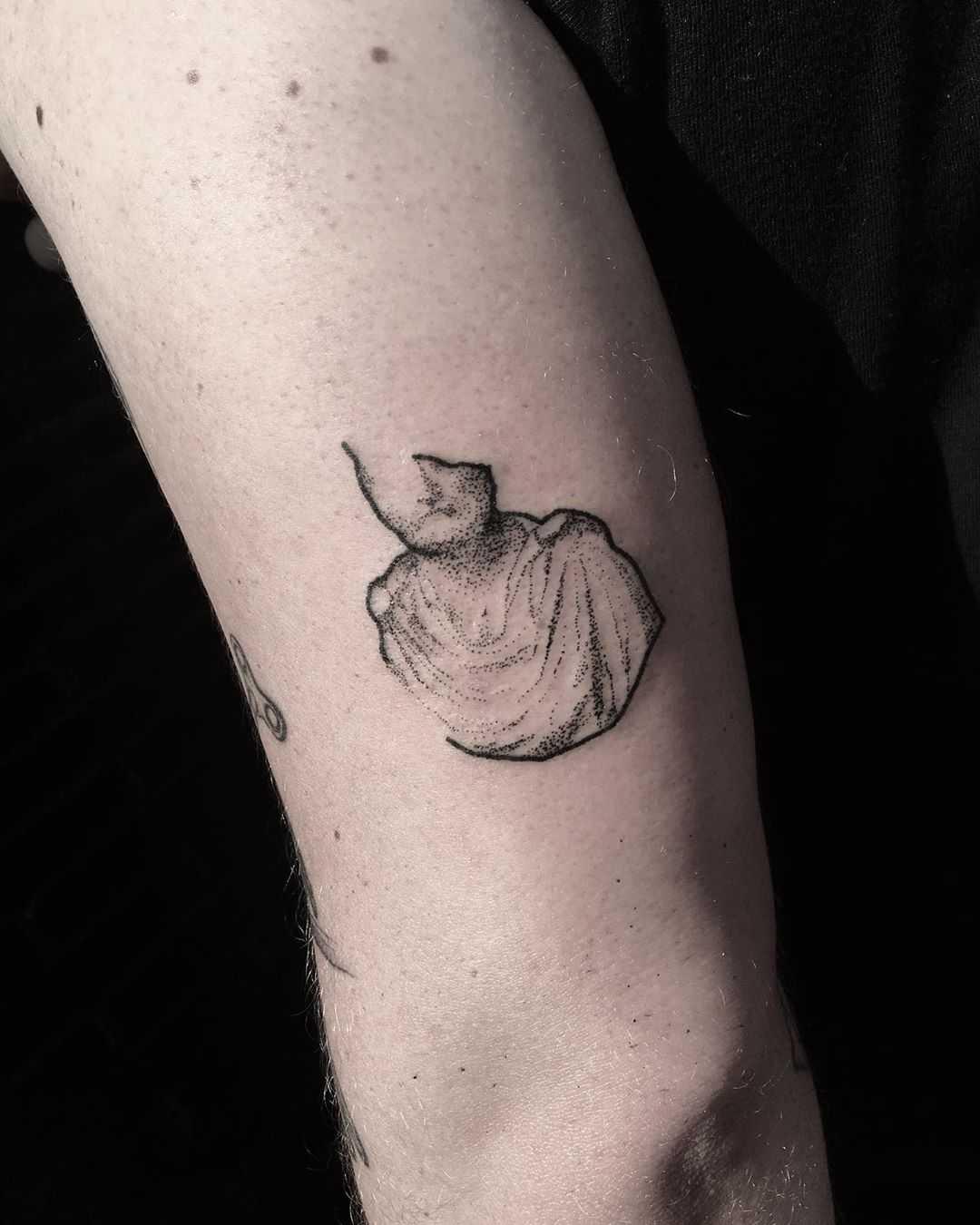 Aurelius bust tattoo by Robbie Ra Moore