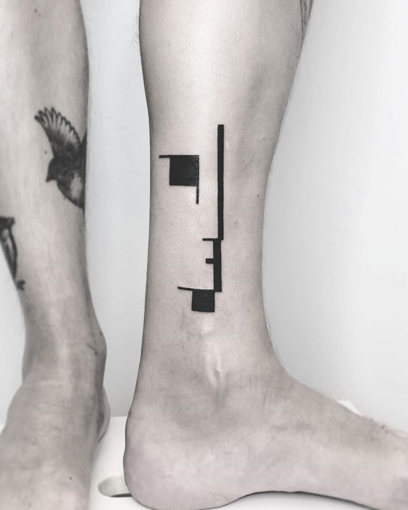 Bauhaus tattoo by Annelie Fransson