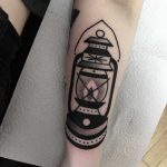 Black lantern tattoo by tattooist Miedoalvacio