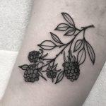 Blackberries tattoo by Wagner Basei