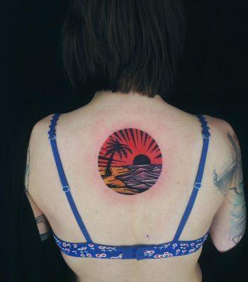 Bleeding Florida landscape tattoo by Eugene Dusty Past