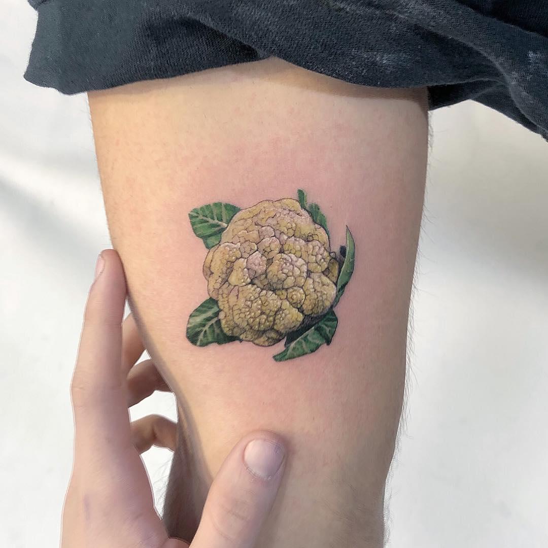 Cauliflower tattoo by Eden Kozo
