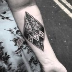 Chaos geometry tattoo by Wagner Basei