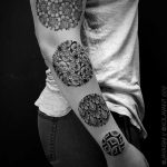 Circle pattern tattoos by Jaya Suartika
