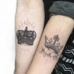 Crown tattoos for a couple by Gianina Caputo