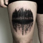 Dark forest tattoo by tattooist Spence @zz tattoo