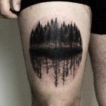 Dark forest tattoo by tattooist Spence @zz tattoo