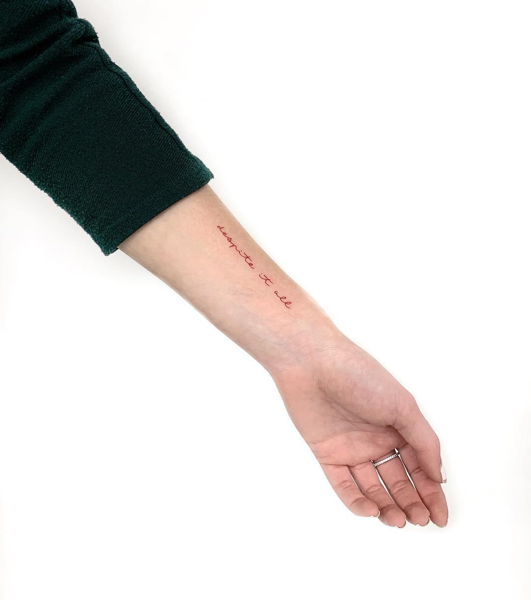 Despite it all tattoo by Gianina Caputo