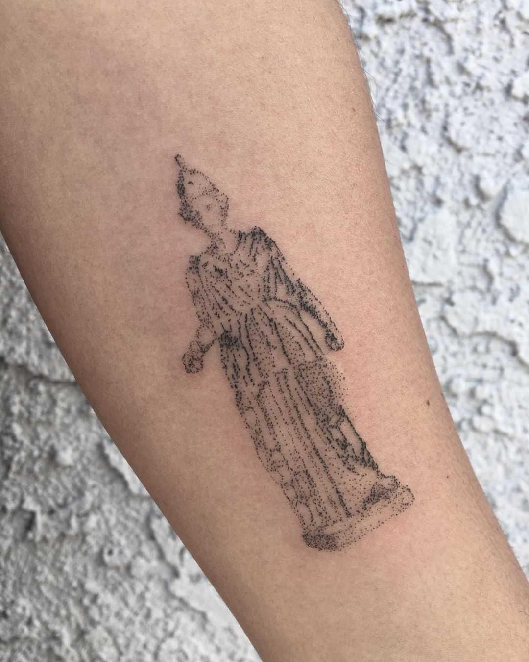 Dotty Athena tattoo by Robbie Ra Moore