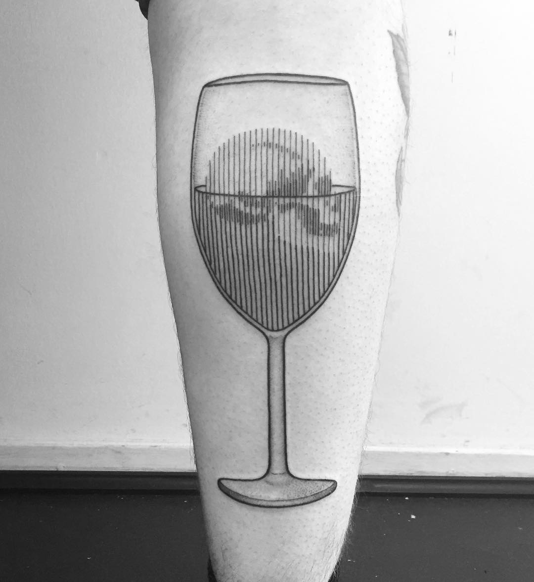 Drink your trouble tattoo by Francesco Rossetti