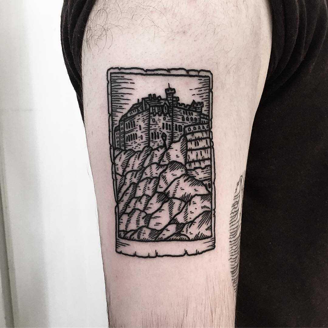 Edinburgh castle tattoo by Deborah Pow
