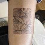 Fan palm tree tattoo by Sasha But.maybe