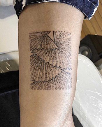 Fan palm tree tattoo by Sasha But.maybe