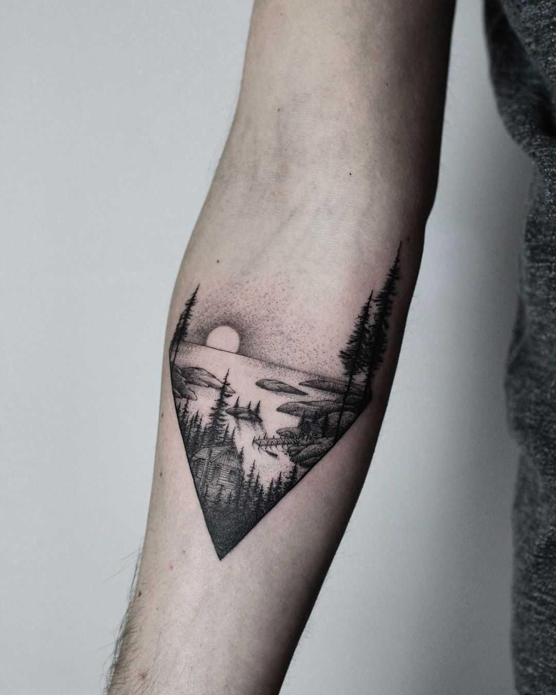 Fjord tattoo by tattooist Spence @zz tattoo