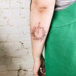 Floral crown tattoo by Kelli Kikcio