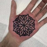 Floral mandala on a palm by Luke.A.Ashley