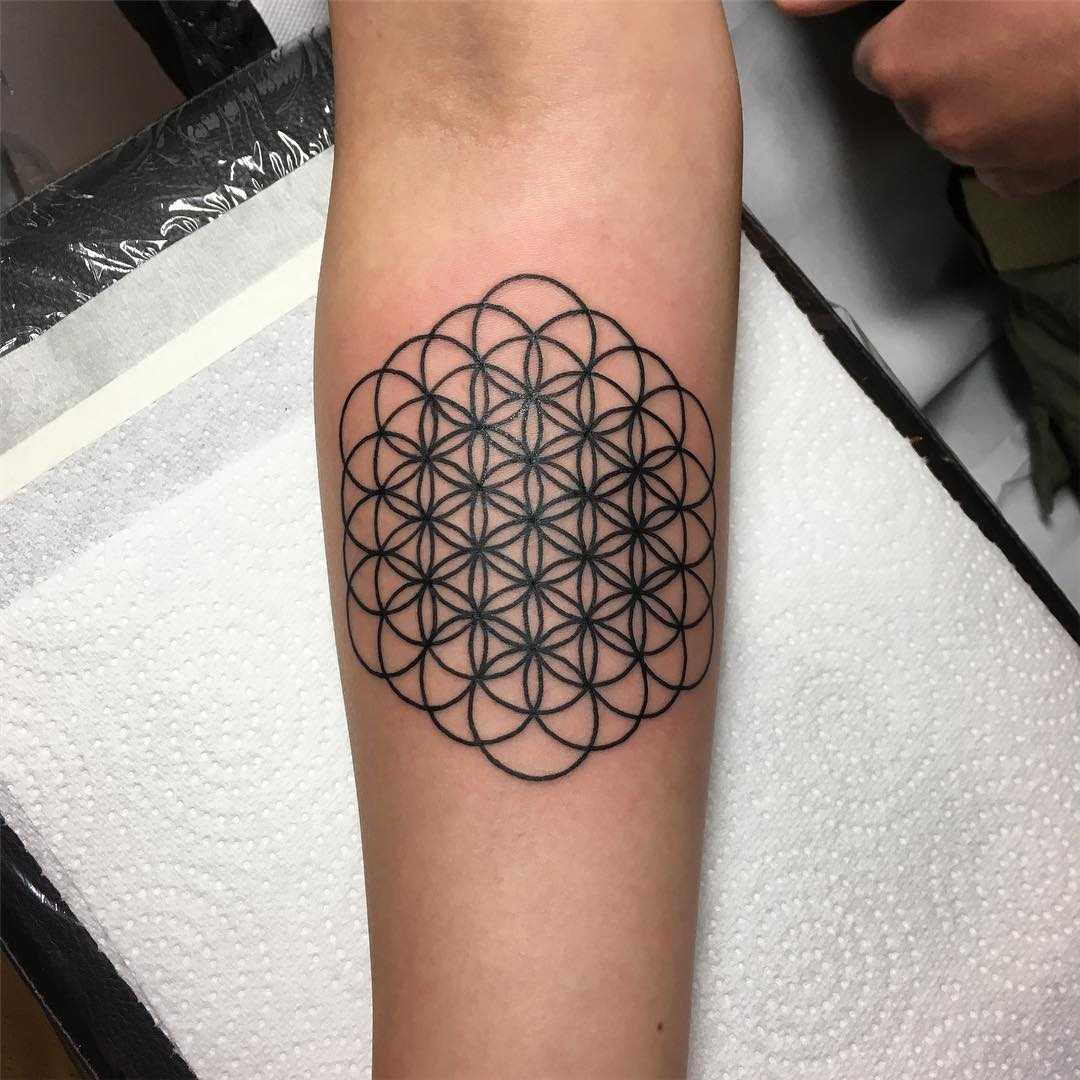 Flower of life by tattooist Spence @zz tattoo