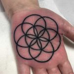 Flower of life on a palm by Luke.A.Ashley