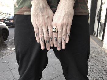 Funy buny tattoo by tattooist Spence @zz tattoo