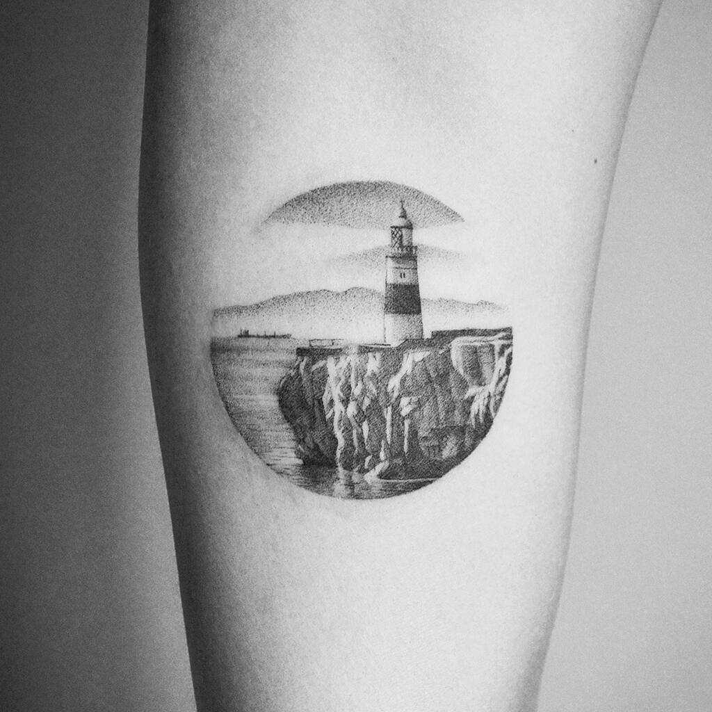 Gibraltar Point Lighthouse tattoo by Amanda Piejak