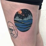 Greenwich Observatory tattoo by Eugene Dusty Past