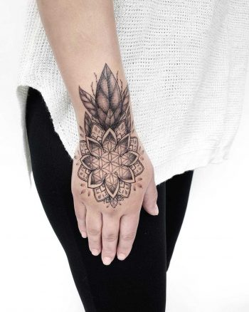 Grey mandala piece by Gianina Caputo
