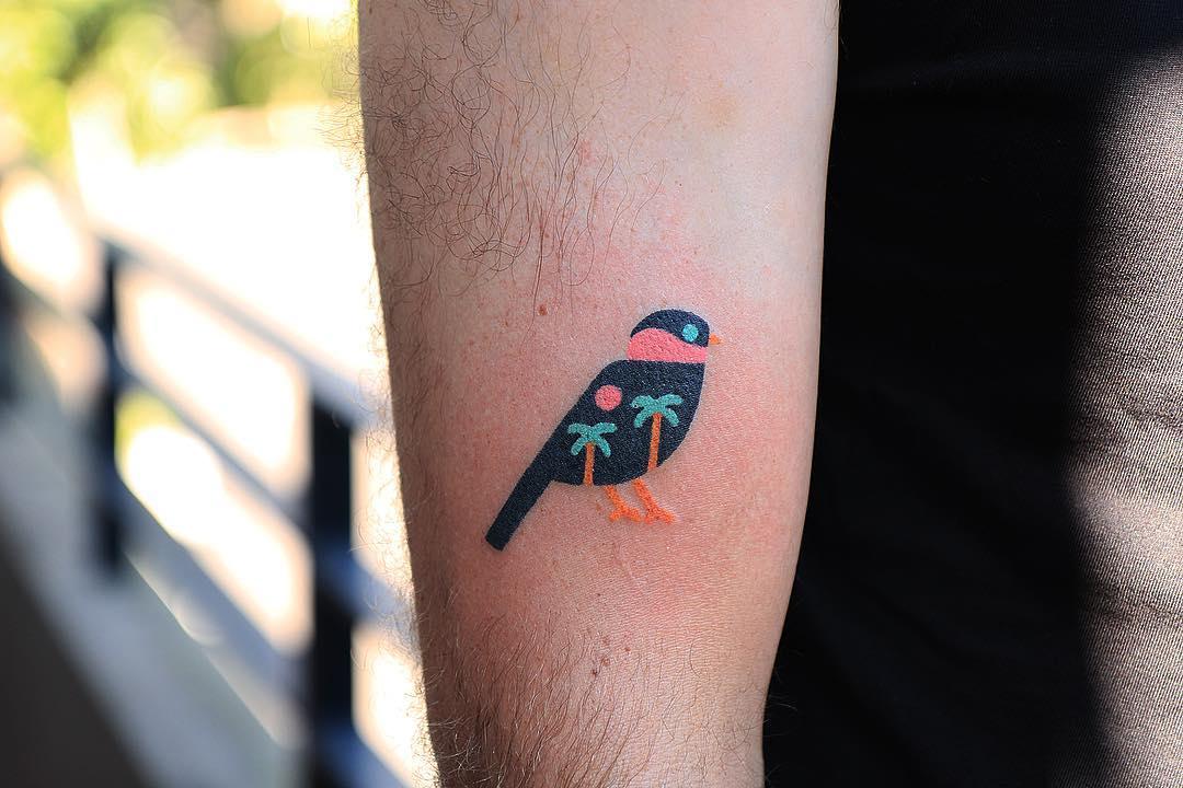Hand-poked birdy by zzizziboy