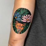 Henri Rousseau's painting tattoo by Eugene Dusty Past