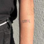 Loyal tattoo by Hand Job Tattoo