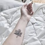 Maple leaf by anton1otattoo